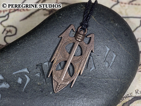 Pendant - Amulet of Akatosh in Polished Bronze Steel