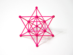 'Sprued' Star Tetrahedron #color in Pink Strong & Flexible Polished