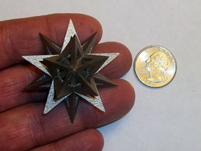 Stellated Icosahedron in Stainless Steel