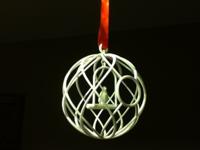 Birdcage Ornament in Transparent Acrylic