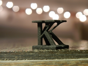 Two way letter / initial K&K in White Strong & Flexible