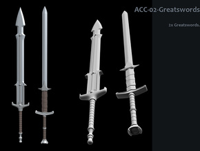 ACC-02-GreatSwords  6-7inch v2.2 in White Strong & Flexible Polished