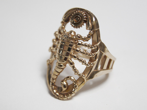 Mech Scorpion Ring Size 10 in Raw Brass