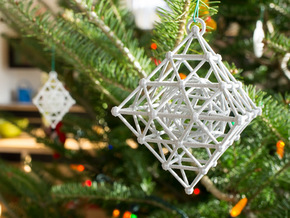 Diamond Spinning Ornament in Metallic Plastic
