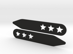 Collar stays: 3 Stars  in Black Strong & Flexible