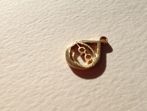 Small Elf Pendent in Polished Brass