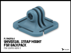 GoPro universal strap mount for backpack in White Strong & Flexible