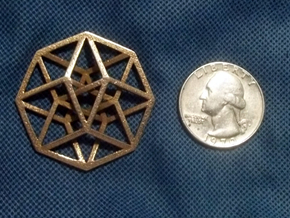 4D Hypercube (Tesseract) small in Stainless Steel