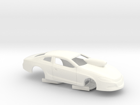 USDR Certified Dodge Dart Pro Stock Body (DD01) in White Strong & Flexible Polished