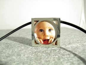 Wearable Gallery Picture Pendant in Polished Silver