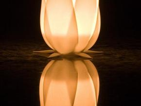 Tulip candle holder in White Strong & Flexible