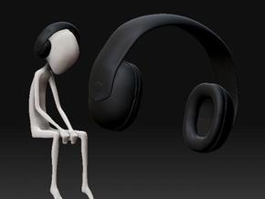 Headphones in Black Acrylic