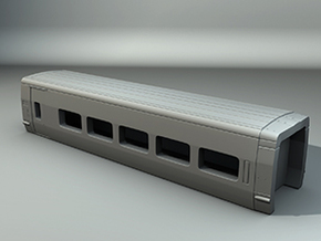 Pendular Wagon Z scale in Frosted Ultra Detail
