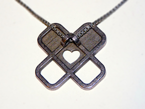 Heart Name Pendant in Stainless Steel