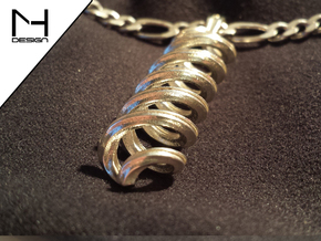 Pendant Infinity in Polished Silver
