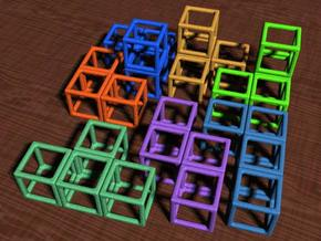 Puzzle Cube 1 in White Strong & Flexible