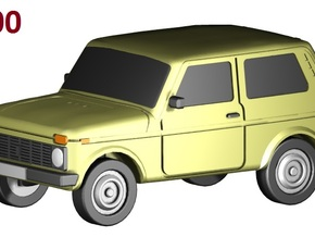 Lada-Niva (1:200) in Frosted Ultra Detail