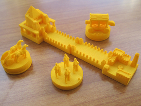 Catan Pieces - Orange City And Knights in White Strong & Flexible