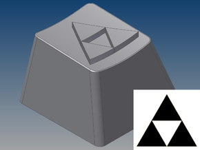 Legend of Zelda - Triforce Keycap (R4, 1x1) in White Strong & Flexible