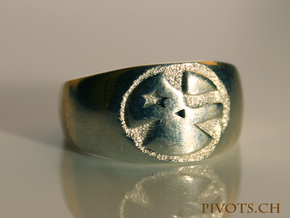 YFU Simple Logo Ring in Polished Silver