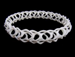 Gyroid Bracelets in White Strong & Flexible