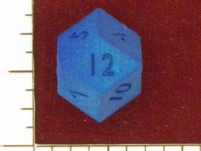 Rhombic 12-sided die in White Strong & Flexible