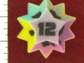 Rhombic Hexecontahedron as d12 in Full Color Sandstone