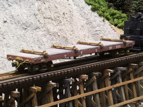 HO Scale - TPLCo Log Car in Frosted Ultra Detail