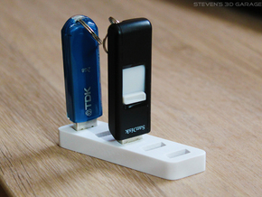 USB-Stick / Flash Drive Holder in White Strong & Flexible