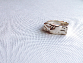 SandWave ring in Polished Silver