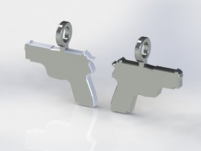 P229 EARRING DANGLES (FIT 14 GAUGE JEWELRY) in Stainless Steel