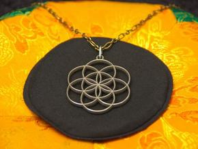 Seed of Life Pendant in Stainless Steel
