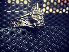 Neuromancer Avatar Ring (US Size 11) in Polished Grey Steel