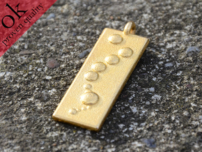Art of the Fugue pendant in Polished Gold Steel