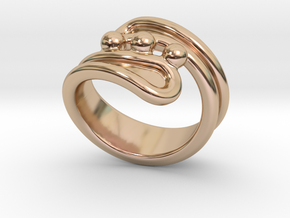 Threebubblesring 21 - Italian Size 21 in 14k Rose Gold Plated