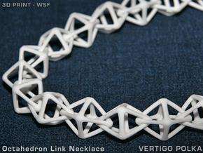 Octahedron Link Necklace in White Strong & Flexible