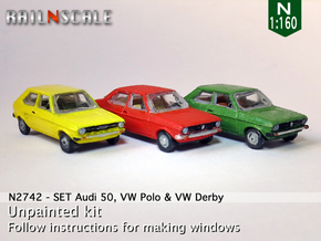 SET Audi 50, VW Polo & VW Derby (N 1:160) in Frosted Ultra Detail
