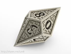 Hedron D10 (Hollow), balanced gaming die in Stainless Steel