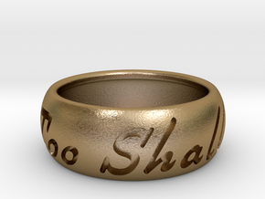 This Too Shall Pass ring size 11 in Polished Gold Steel