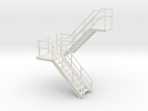 O Scale Stairs 76mm in White Strong & Flexible