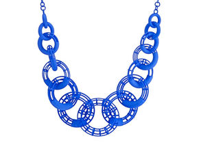50cm Solid - Structure Torus Necklace in Blue Strong & Flexible Polished