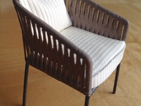 1:12 Chair no. 3 in White Strong & Flexible Polished