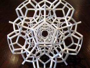 Half of a 120-Cell in White Strong & Flexible