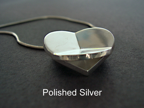 HIDDEN HEARTS PENDANT SOLID in Polished Silver