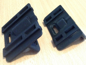 Gate Bracket in Black Strong & Flexible