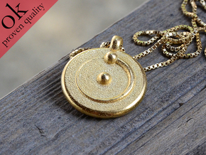 hydrogenium pendant II in Polished Gold Steel
