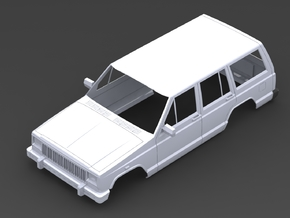Jeep Cherokee 1/10 in White Strong & Flexible
