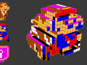 8-bit cutout (Donkey Kong Jr) in Full Color Sandstone
