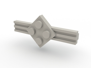 Brick Tie Clip-4 Stud in White Strong & Flexible Polished
