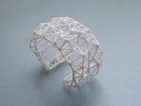 Faceted Cuff in X-Small in White Strong & Flexible Polished